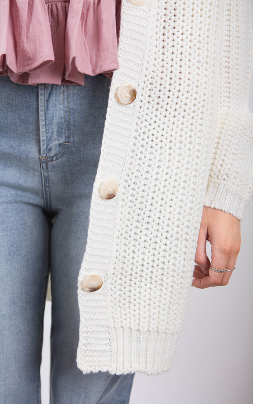 Rodeo Cardigan - Cream Marle