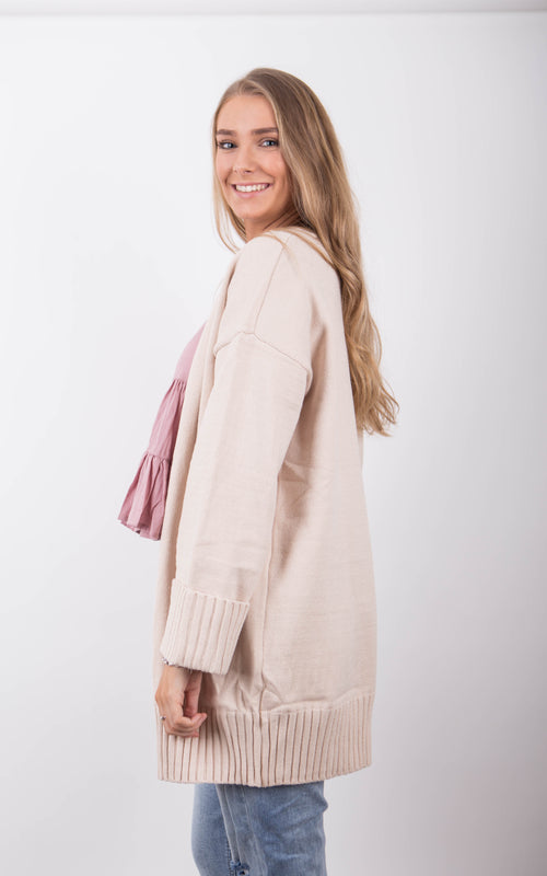 Cozy Cardigan - Sandy Beige