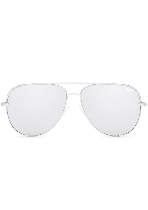 QUAY SUNGLASSES - HIGH KEY SILVER