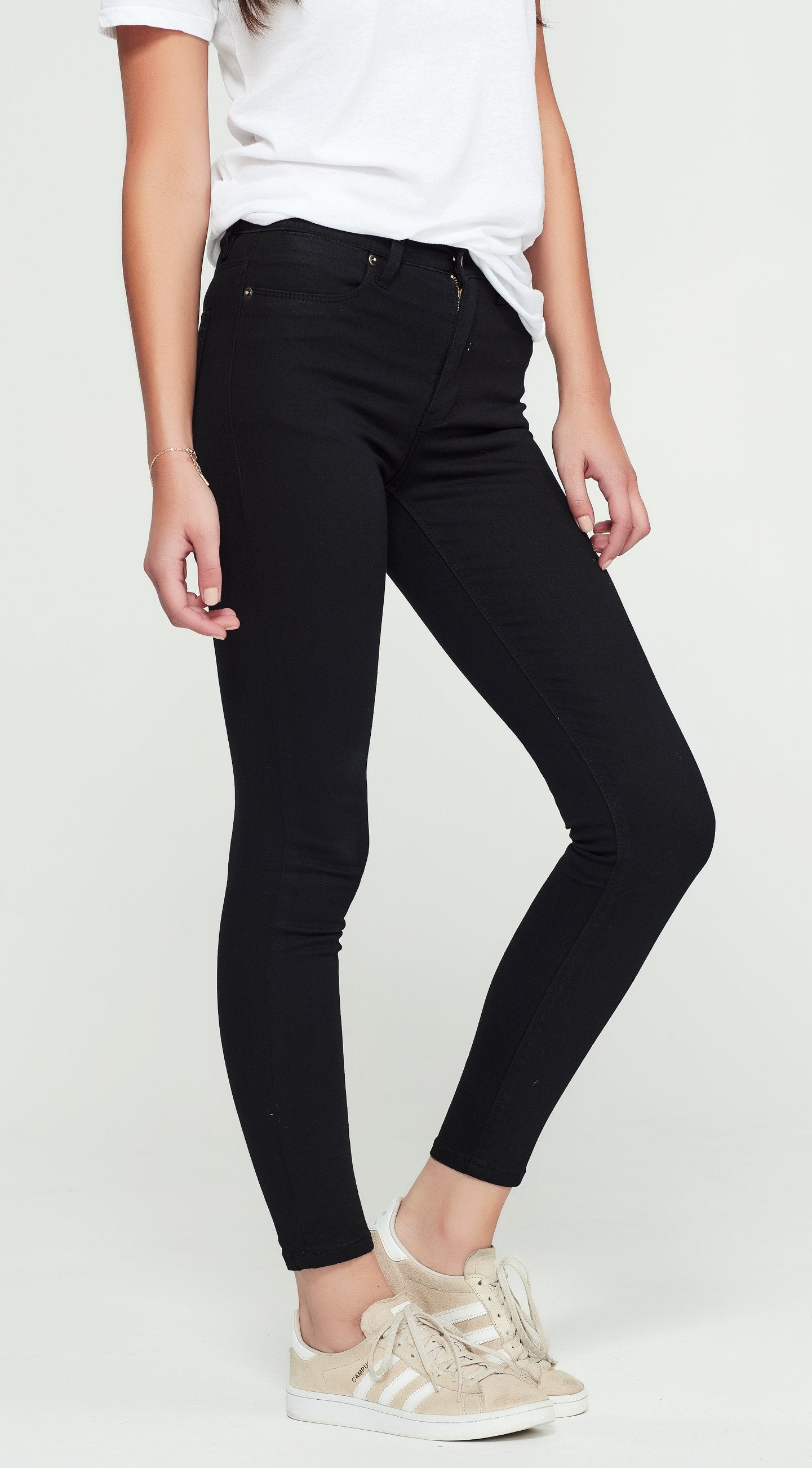 JUNKFOOD VERONICA HIGH WAIST SKINNY JEAN -  BLACK