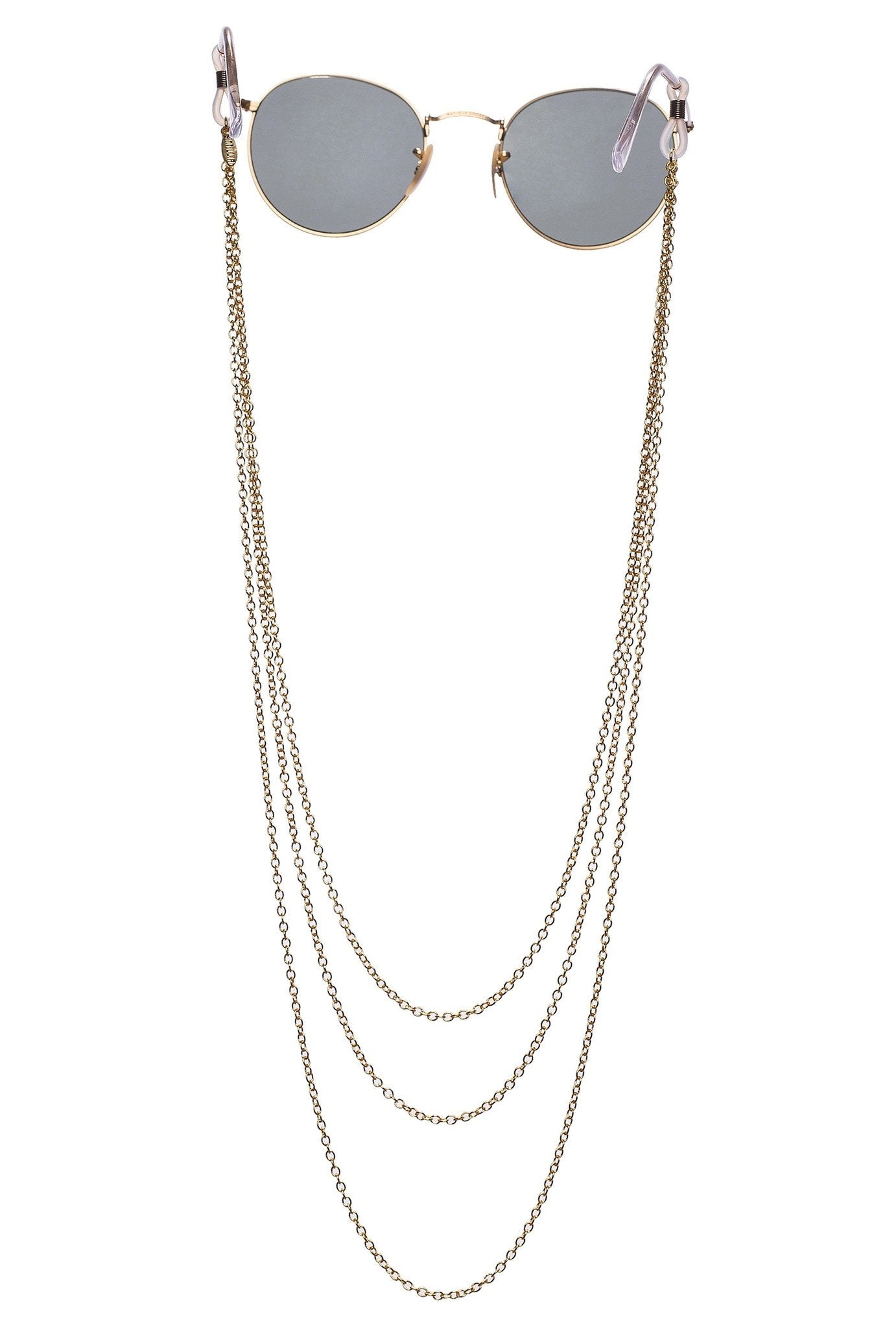 SINTILLIA CHAIN LACE SUNGLASS CHAIN - GOLD