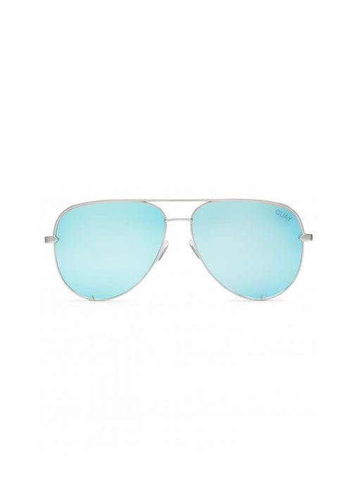 QUAY SUNGLASSES - HIGH KEY BLUE