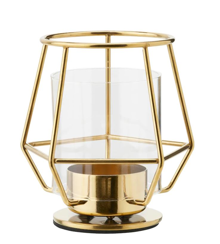 Tealight Candle Holder Gold