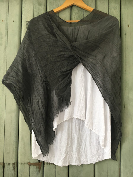 Linen cotton Poncho