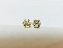 Load image into Gallery viewer, Lola Paw Print Earrings 8mm