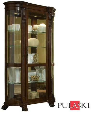 Bella 19th Century Curved Curio Cabinet