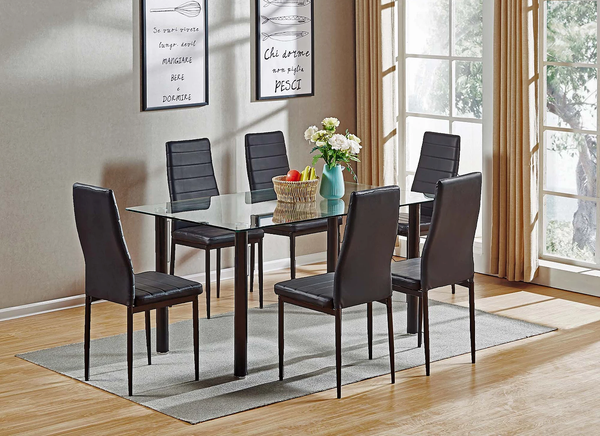 Dynasty Dining Table W/6 Chairs
