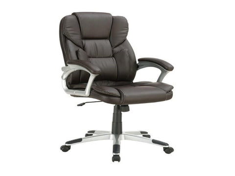 Brown Office Chair w/ Lumbar Support - Katy Furniture