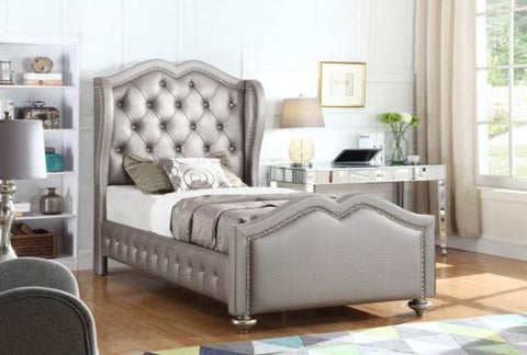 Belmont Tufted Twin Bed - Katy Furniture