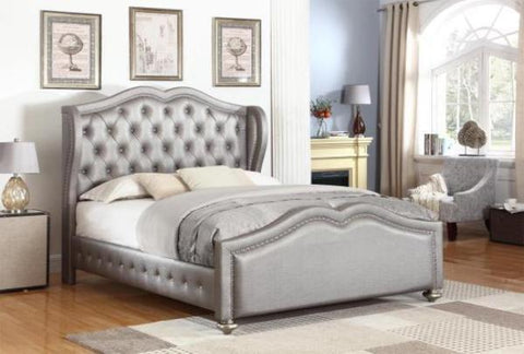 Belmont Tufted Queen Bed - Katy Furniture