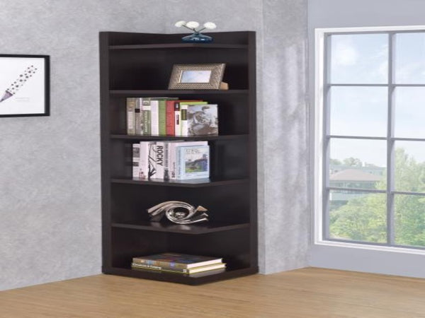 Corner Bookcase With Open Side Katy Furniture
