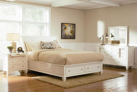 Sandy Beach Queen Storage Bedroom Set - Katy Furniture