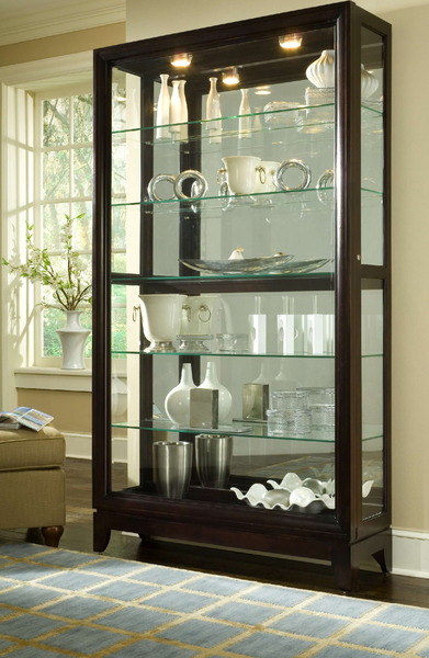 Two Way Sliding Door Curio Cabinet Katy Furniture