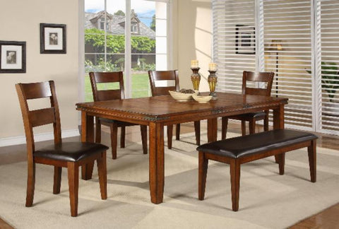Figaro Mango Regular Height Dining W/ 4 Chairs