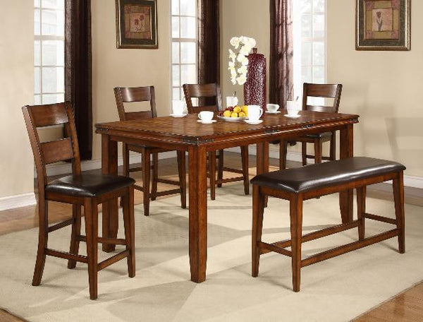 Figaro Mango Counter Height Table W 4 Chairs Katy Furniture