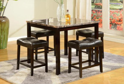 Kinsey Table & 4 Stools - Katy Furniture
