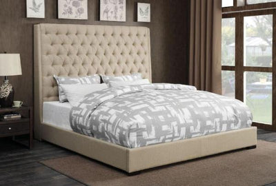Camille Tan King Bed - Katy Furniture