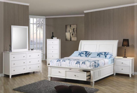 Sandy Beach Full Storage Bedroom Set - Katy Furniture