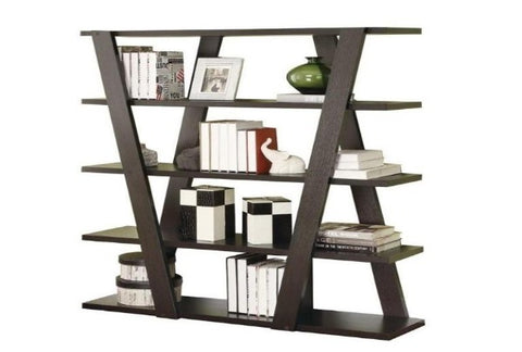 Inverted Modern Bookcase - Katy Furniture