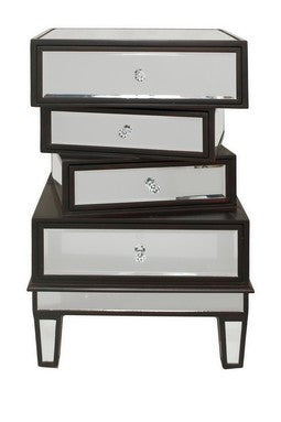 Mirrored Accent Table with Drawers - Katy Furniture