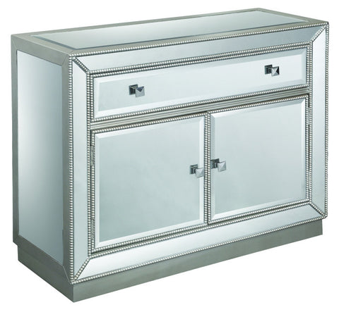 Elsinore Silver and Mirror 1 Drawer 2 Door Cabinet