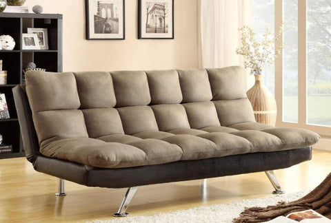 Sundown Pebble Adjustable Futon - Katy Furniture