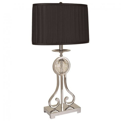 Table Lamp Silver & Black
