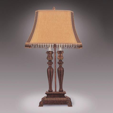 Brown Shade 2 Tone Table Lamp