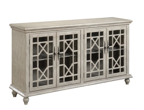 Milstone 4 Door Media Credenza - Katy Furniture