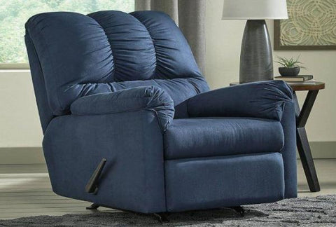Darcy Blue Rocker Recliner