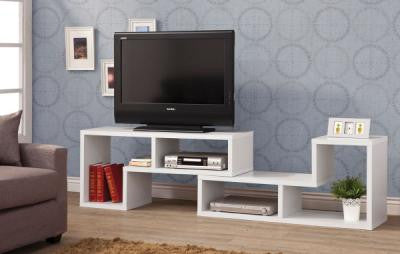Convertible TV Console and Bookcase Combination