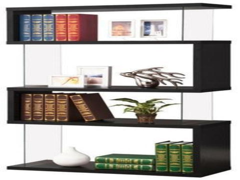 Asymmetrical Snaking Bookshelf