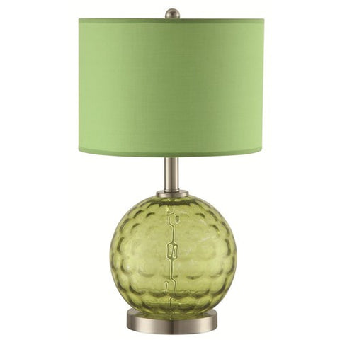 Vintage Green Table Lamp - Katy Furniture