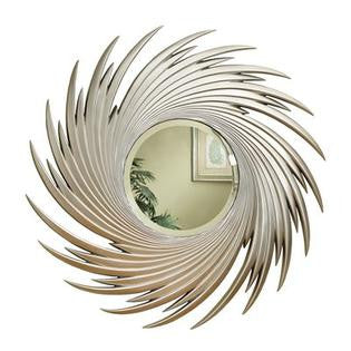 Accent Mirrors Round Spiral Mirror - Katy Furniture