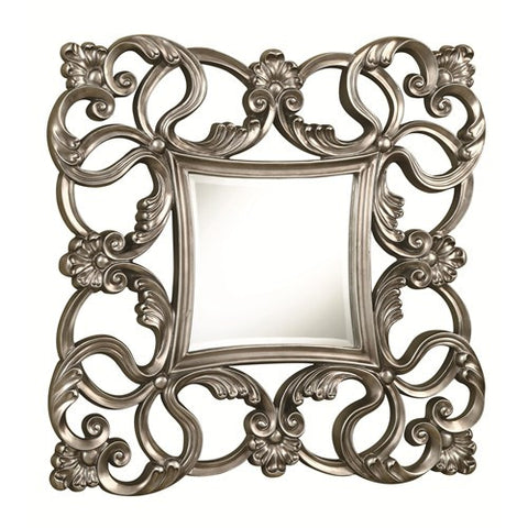Traditional Pewter Finished Accent Mirror