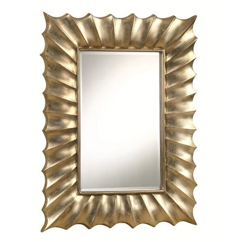 Mirror with Scalloped Edge Frame