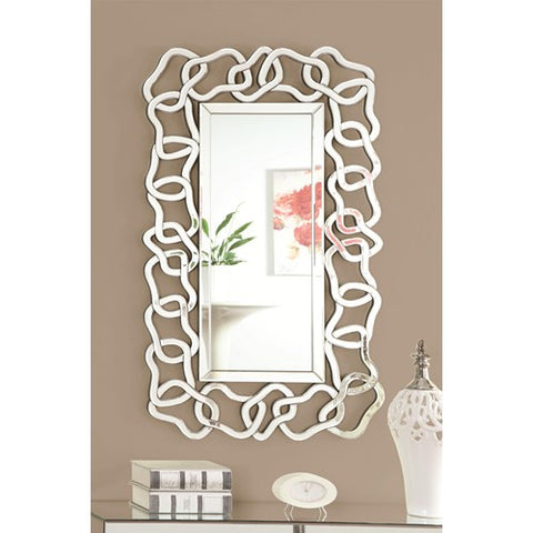 Accent Mirrors Wall Mirror with Decorative Glass Frame