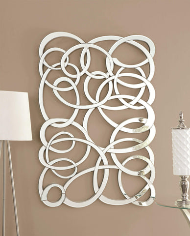 Decorative Swirl Wall Mirror - Katy Furniture