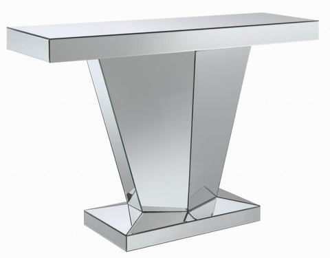 Silver Mirror Console Table - Katy Furniture