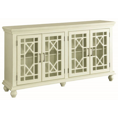 Traditional 4 Door Accent Cabinet - Katy Furniture