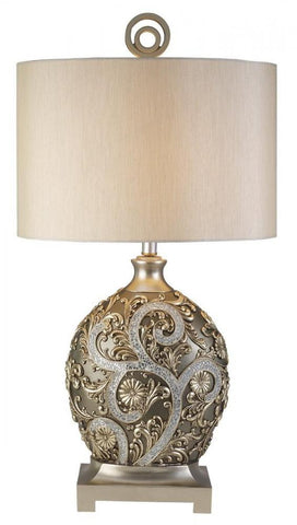 Decorative Table Lamp Silver Vine