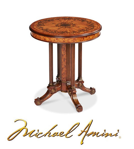 Discoveries Light Brown Round Accent Table