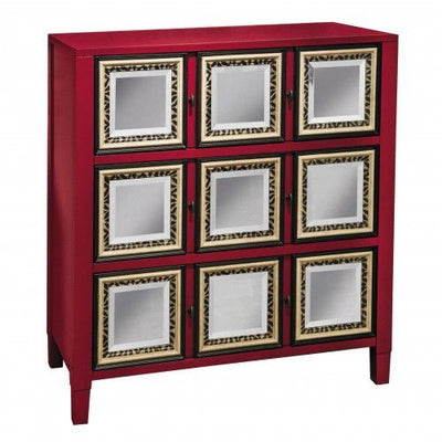 Red Accent Cabinet - Katy Furniture