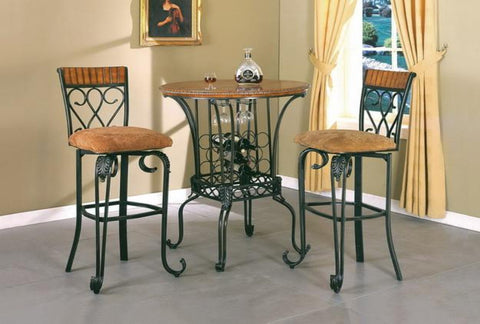 Alyssa Bar Table w/ 2 Chairs - Katy Furniture
