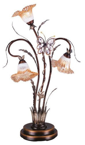 Butterfly Flower Table Lamp