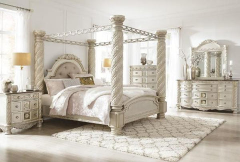 Cassimore King Canopy Bedroom Set - Katy Furniture