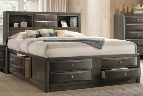 Briana King Storage Bed - Katy Furniture