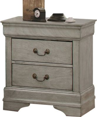Philip Grey Nightstand - Katy Furniture