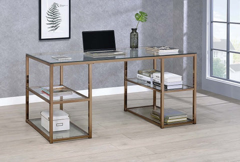 Chocolate Chrome Writing Desk
