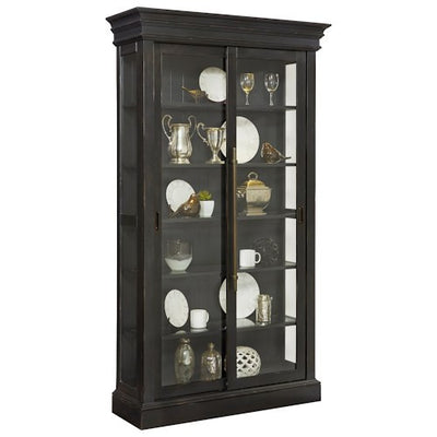 Cordova Sliding door Curio Cabinet - Katy Furniture
